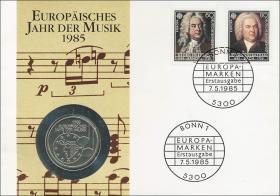 B-0059 • Europ. Jahr der Musik > 4 Noten