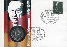 B-0070 • Konrad Adenauer 1867-1976 >Erstausgabe