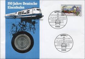B-0074 • 150 Jahre Eisenbahn >blau