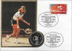 B-0177 • Olympiade Seoul 1988 - Tennispremiere