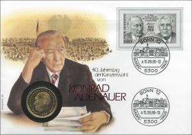 B-0277 • Konrad Adenauer - 40 J. Kanzlerwahl
