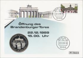 B-0293.b • Öffnung Brandenburger Tor >50 Pf.<