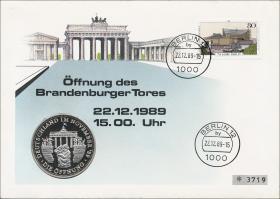 B-0293.d • Öffnung Brandenburger Tor >80 Pf.<