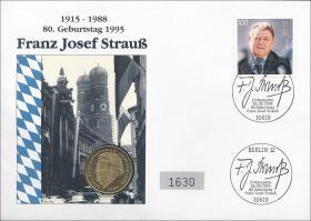 B-0871 • F. J. Strauß - 80. Geburtstag 1995