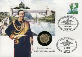 B-0961 • Kaiser-Wilhelm-Kanal > Gold-Numisbrief