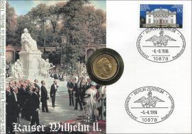B-0964 • Kaiser Wilhelm II. > Gold-Numisbrief