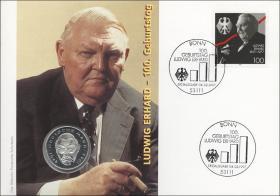 B-1008 • Ludwig Erhard - 100. Geburtstag