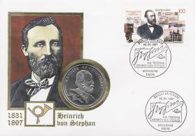 B-1030 • Heinrich von Stephan, 100. Todestag