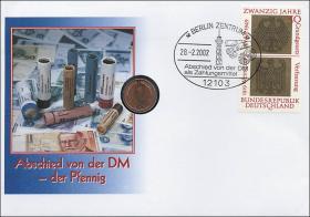 B-1443 • Abschied von der DM - der Pfennig