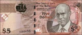 Bahamas P.72 5 Dollars 2007 (1)