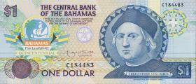 Bahamas P.50 1 Dollar 1992 (1) Gedenkbanknote