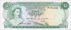 Bahamas P.27a 1 Dollar 1968 (1)