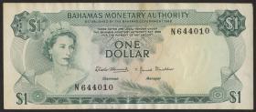 Bahamas P.27a 1 Dollar 1968 (3)