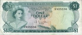 Bahamas P.35a 1 Dollar L.1974 (3+)