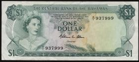 Bahamas P.35b 1 Dollar L.1974 (3)