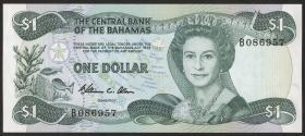 Bahamas P.43a 1 Dollar 1974 (1984) (1)