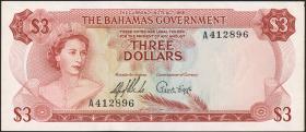 Bahamas P.19a 3 Dollars 1965 (1/1-)