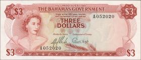 Bahamas P.19a 3 Dollars 1965 (1)