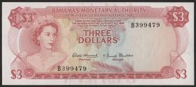 Bahamas P.28a 3 Dollars 1968 (1)