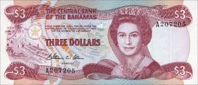 Bahamas P.44a 3 Dollars 1974 (1984) (1)