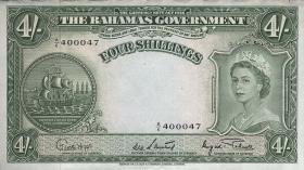Bahamas P.13d 4 Shillings (1953) (1-)