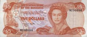 Bahamas P.45b 5 Dollars 1974 (1984) (1)