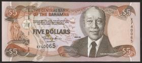 Bahamas P.63b 5 Dollars 2001(1)