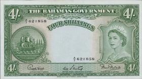 Bahamas P.13b 4 Shillings (1953) (1)