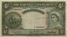 Bahamas P.13c 4 Shillings (1953) (3)