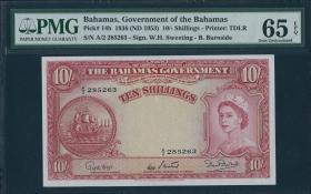 Bahamas P.14b 10 Shillings (1953) (1)