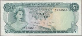 Bahamas P.27a 1 Dollar 1968 (2)