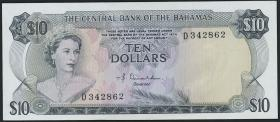 Bahamas P.38a 10 Dollars L. 1974 (2/1)