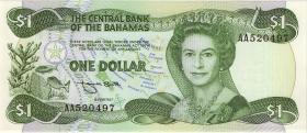 Bahamas P.43b 1 Dollar 1974 (1984) (1)