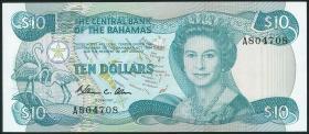 Bahamas P.46a 10 Dollars 1974 (1984) (1/1-)