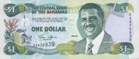 Bahamas P.69 1 Dollar 2001