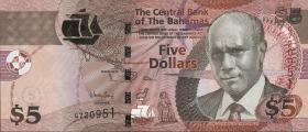 Bahamas P.72A 5 Dollars 2013 (1)