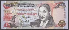 Bahamas P.65 20 Dollars 1997 No.E 000012 (1)