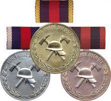B.0170-172 Treue-Dienst-Medaillen Feuerwehr