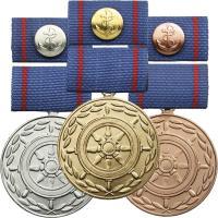 B.0196-198 Treue-Dienst-Medaillen Seeverkehrswirtschaft