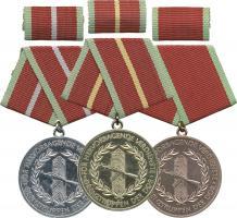 B.0280-0282 Verdienstmedaillen Grenztruppen Gold-Silber-Bronze
