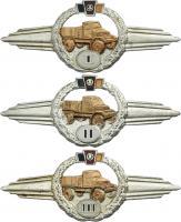 B.0365-367 Leistungsabzeichen KFZ-Dienst I-III