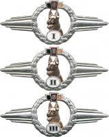 B.0371-373 Leistungsabzeichen Diensthundeführer