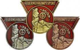 B.0407-409 Feuerwehrkampfsport Gold-Silber-Bronze