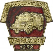 B.0411/ 1972 Kreisausscheid Gruppenwettkampf Gold