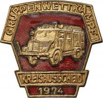 B.0413/ 1974 Kreisausscheid Gruppenwettkampf Bronze