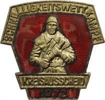 B.0414/ 1972 Kreisausscheid Schnelligkeitswettkampf Gold