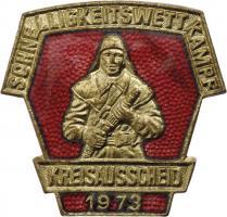 B.0414/ 1973 Kreisausscheid Schnelligkeitswettkampf Gold