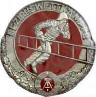 B.0496 Feuerwehr-Siegermedaillen Bezirkswettkämpfe Silber