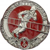 B.0499 Feuerwehr-Siegermedaillen DDR-Wettkämpfe Silber