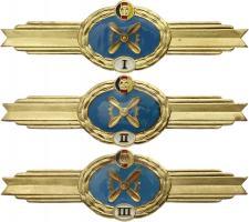 B.0778-780 Klass. Abzeichen Fliegeringenieurdienst I-III